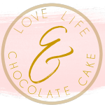 Love, Life, and Chocolate Cake logo