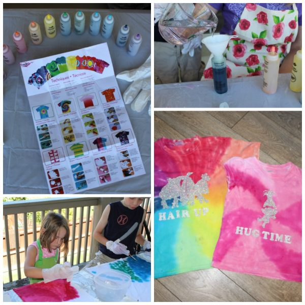 DIY Trolls tshirt with step by step instructions and video to make your own shirts with Princess Poppy, Brand and Cloud guy. Your kids will love it!