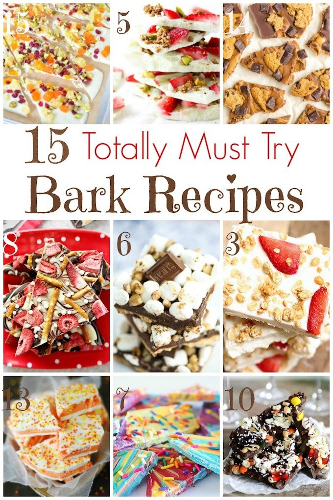 There is a candy bark recipe for every occasion, including breakfast! So we've collected 15 Must Try Bark Recipes! Come on, and find your favorite! | Design Dazzle