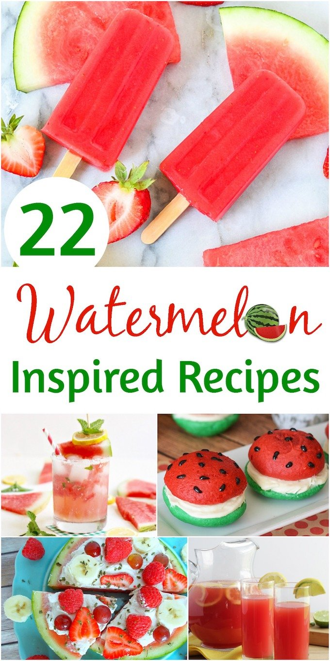 Take a look at these 10+ watermelon and watermelon inspired recipes, and let your taste buds rejoice! | Design Dazzle