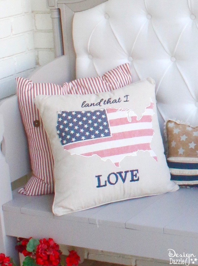 4th of July inspired front porch decor that is sure to make your head turn! Find all of these items in stores easily and have a happy 4th of July!