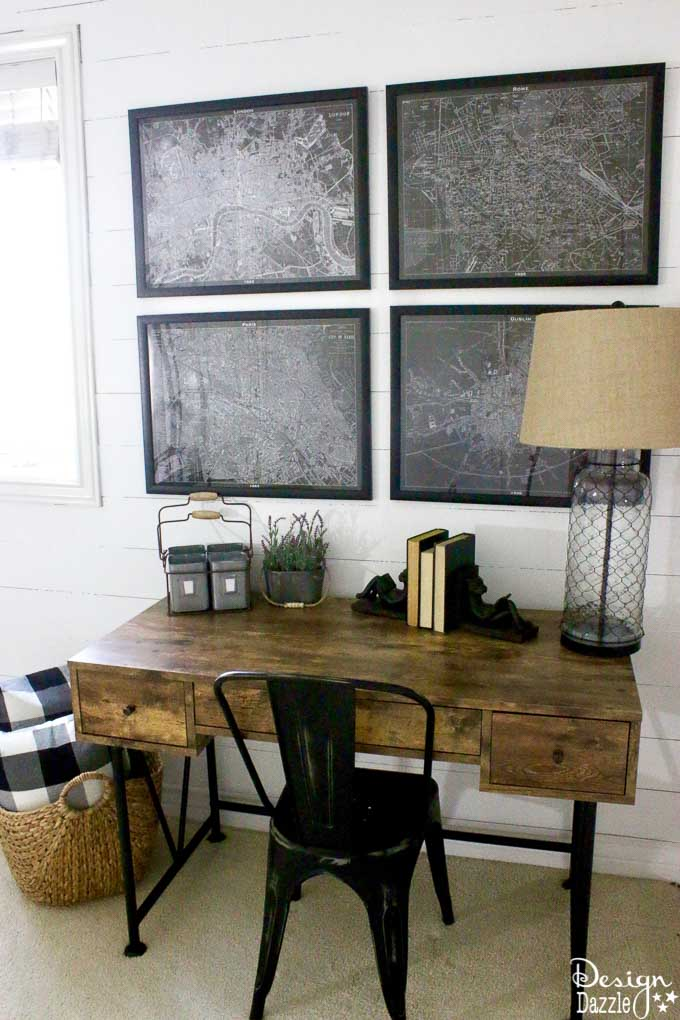 How to completely renovate a room with a modern farmhouse feel buying EVERYTHING (except the mattress) from Amazon and make it look absolutely gorgeous! | Design Dazzle