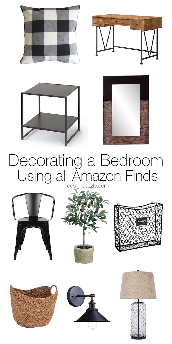 Just about everything in this room can be found on Amazon. If you're looking to re-do your decor and furniture on a budget, this post is for you! | Design Dazzle