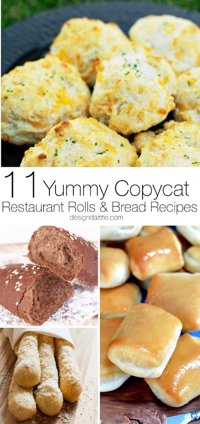 Here are 11 delicious copycat bread recipes from your favorite restaurants that you can make at home! | Design Dazzle