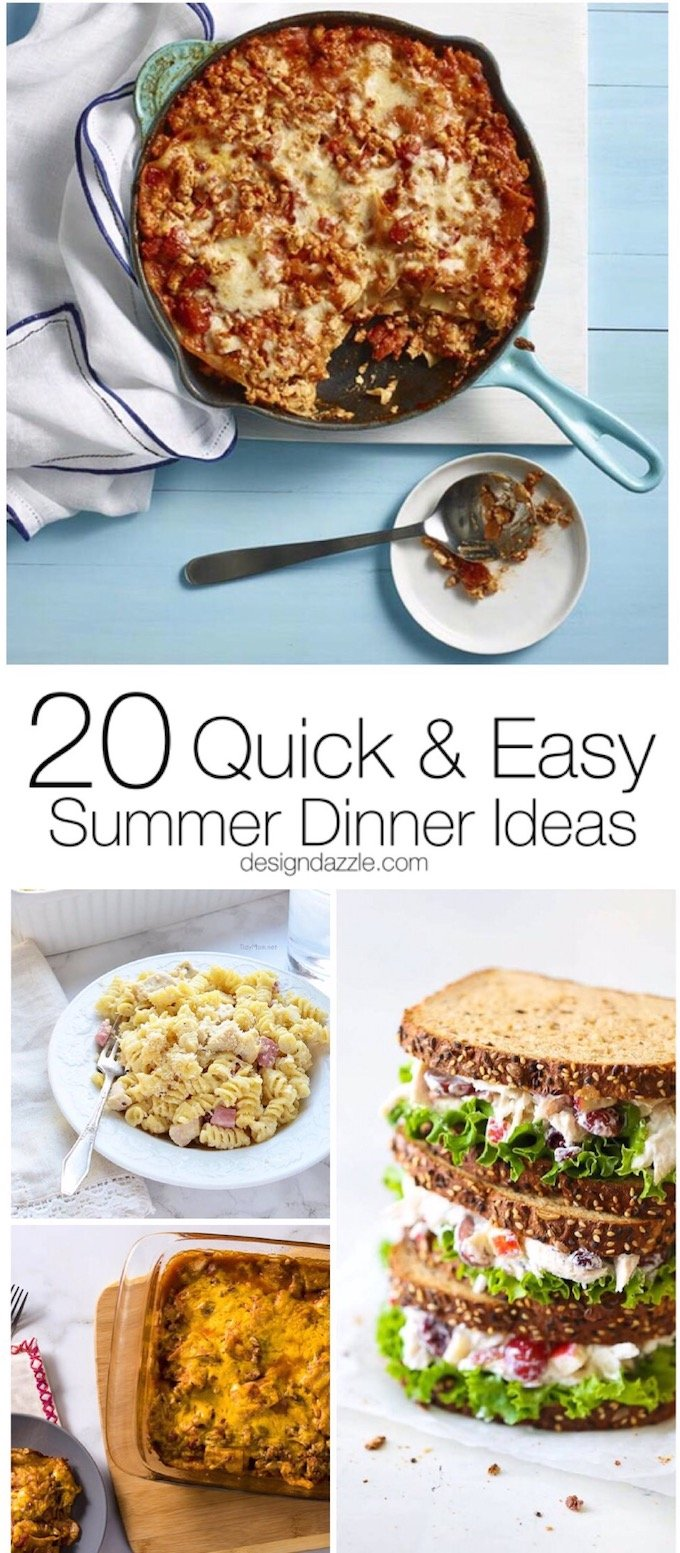 These 20 easy summer dinner ideas are not only made with the healthiest meat, they are easy, delicious, and kid approved! | Design Dazzle