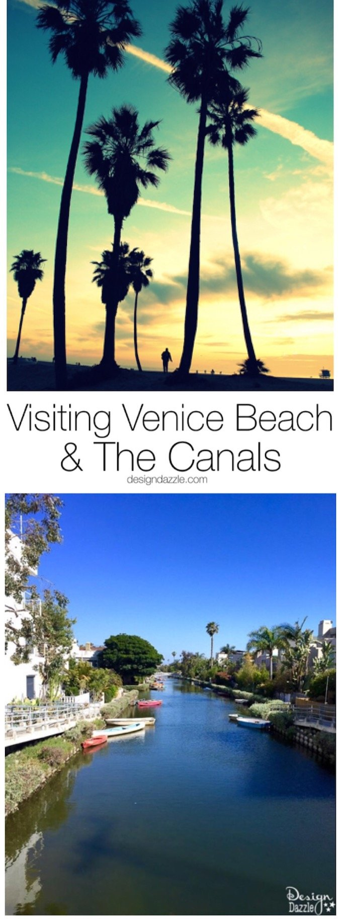 Ever been to Venice? How about Venice Beach? They're very different, but both have water ways to explore. Check out my weekend there on DesignDazzle!