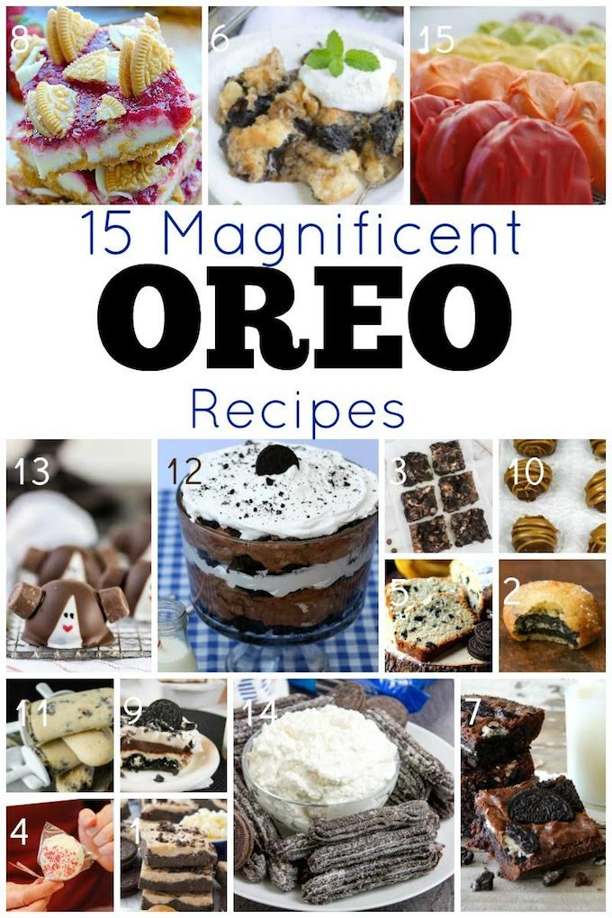 Whether it's summertime snacking, picnic fun or after school snack time you're seeking ideas for, we'vefound 15 magnificent Oreo recipes for you and we couldn't be happier about it! | Design Dazzle