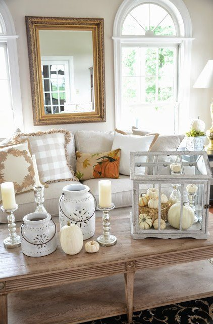 14 beautiful neutral fall decorating ideas design dazzle - How to decorate my home ...
