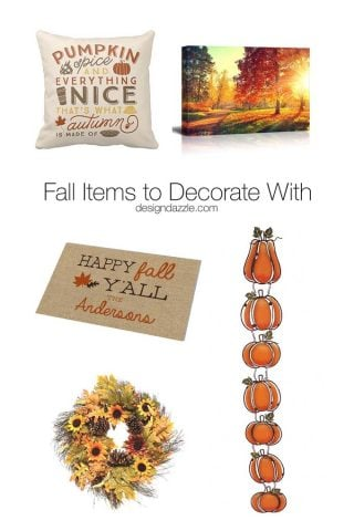 Fall Items to Decorate With