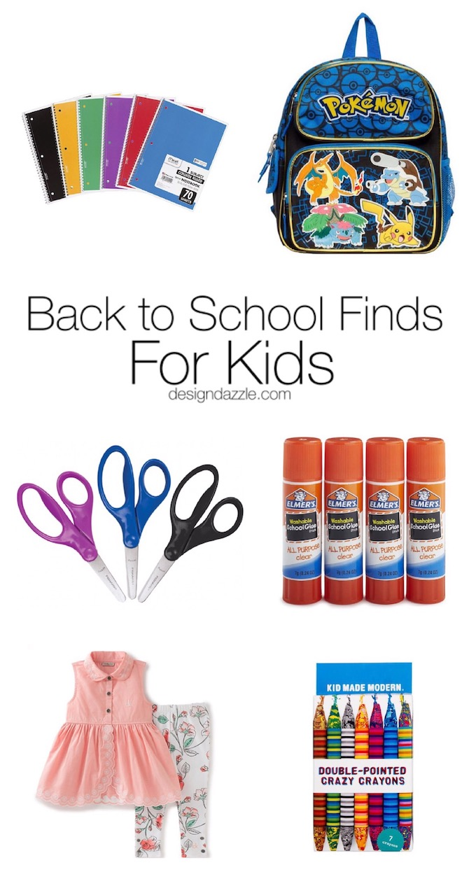 No need to go around to five different stores for back to school shopping! Buy all of the items you need with the click of a few buttons. | Design Dazzle
