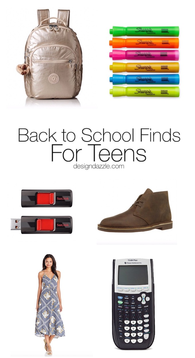 No need to go around to five different stores for back to school shopping! Buy all of the items you need for your teen with the click of a few buttons. | Design Dazzle