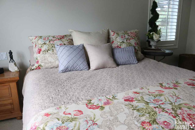 If you're looking for a bed that's inviting, comfy, and inexpensive then you've come to the right place! This post has the details of my favorite mattress. | Design Dazzle