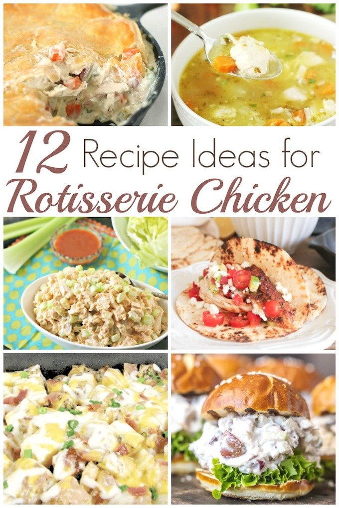 Rotisserie Chicken that you can easily grab one at the market on your way out, can be used in all 12 of these delicious Rotisserie Chicken Recipes! | how to use rotisserie chicken | rotisserie chicken recipe ideas | easy chicken recipes | chicken recipes for fall | #chickenrecipes  || Design Dazzle