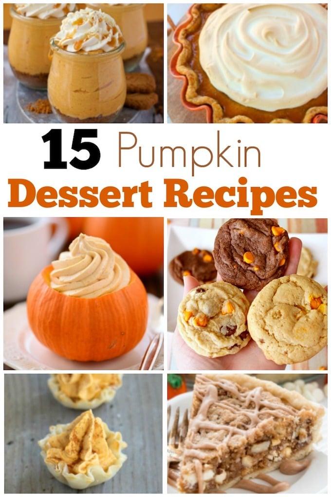 15 Perfectly Pumpkin Dessert Recipes