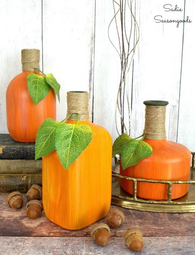 Pumpkins and Gourds are so versatile! Here are thirteen great ideas for working these fall harvest items into your everyday home decor!   fall home decor   pumpkin home decor ideas   how to decorate with pumpkins and gourds   fall pumpkin decor   decorating for fall   home decor ideas for fall   fall inspired home decor    Design Dazzle