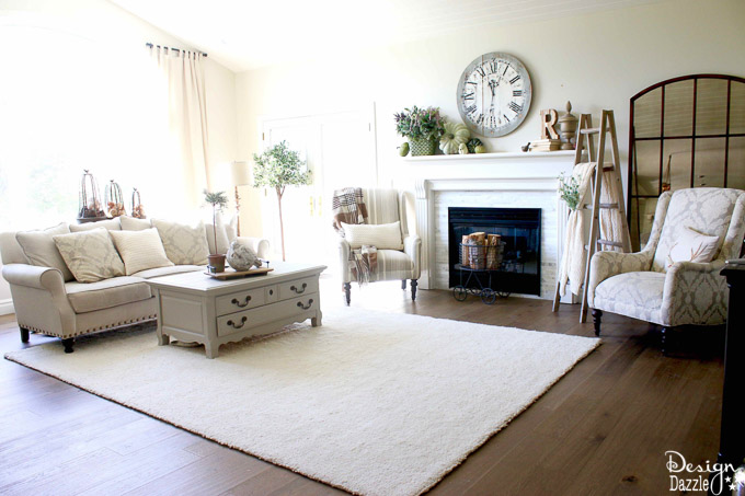 If you're looking for a post with tons of different and gorgeous fall decorating ideas then you have come to the right place!   Design Dazzle