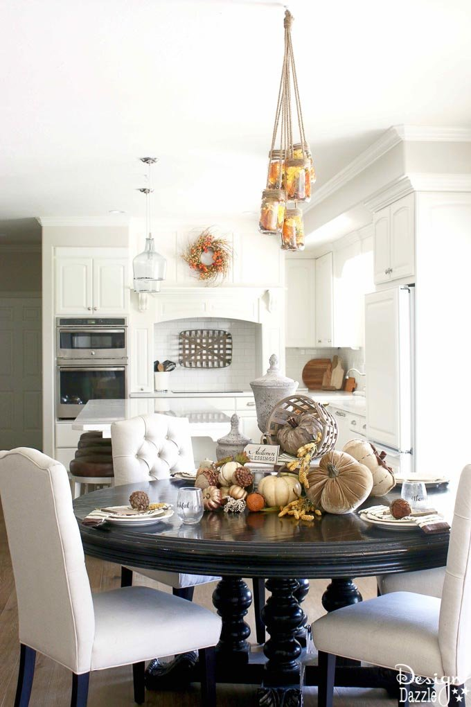 If you're looking for a post with tons of different and gorgeous fall decorating ideas then you have come to the right place! | Design Dazzle