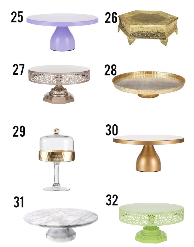 Never underestimate a good cake stand! These 32 cake stands are gorgeous and versatile, I'm sure there will be at least one to suit your needs! | Design Dazzle