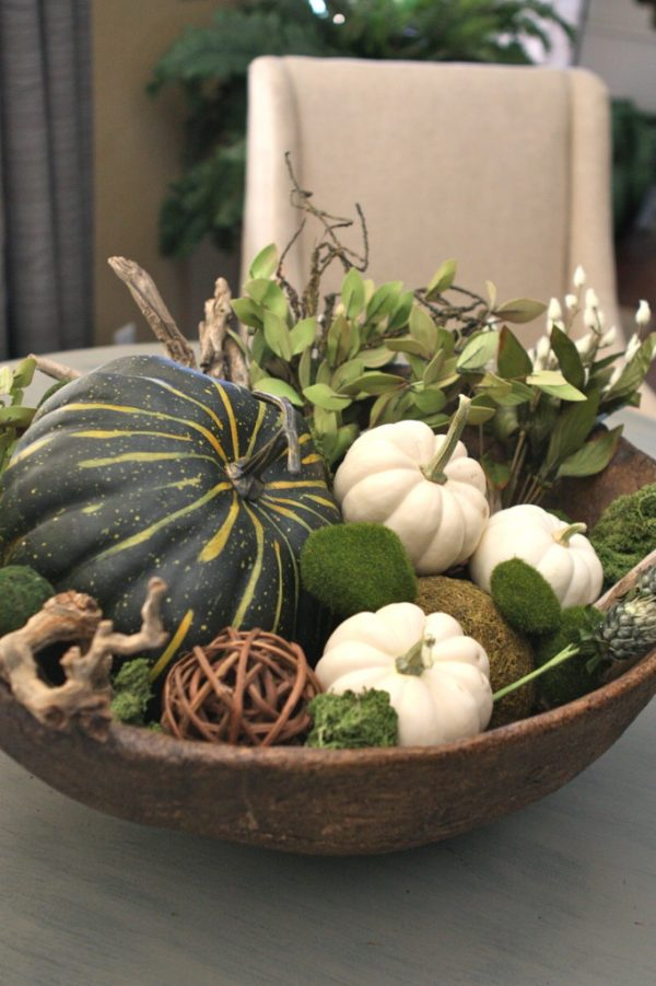Pumpkins and Gourds are so versatile! Here are thirteen great ideas for working these fall harvest items into your everyday home decor! | fall home decor | pumpkin home decor ideas | how to decorate with pumpkins and gourds | fall pumpkin decor | decorating for fall | home decor ideas for fall | fall inspired home decor || Design Dazzle