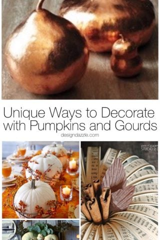 Unique Ways to Decorate with Pumpkins and Gourds