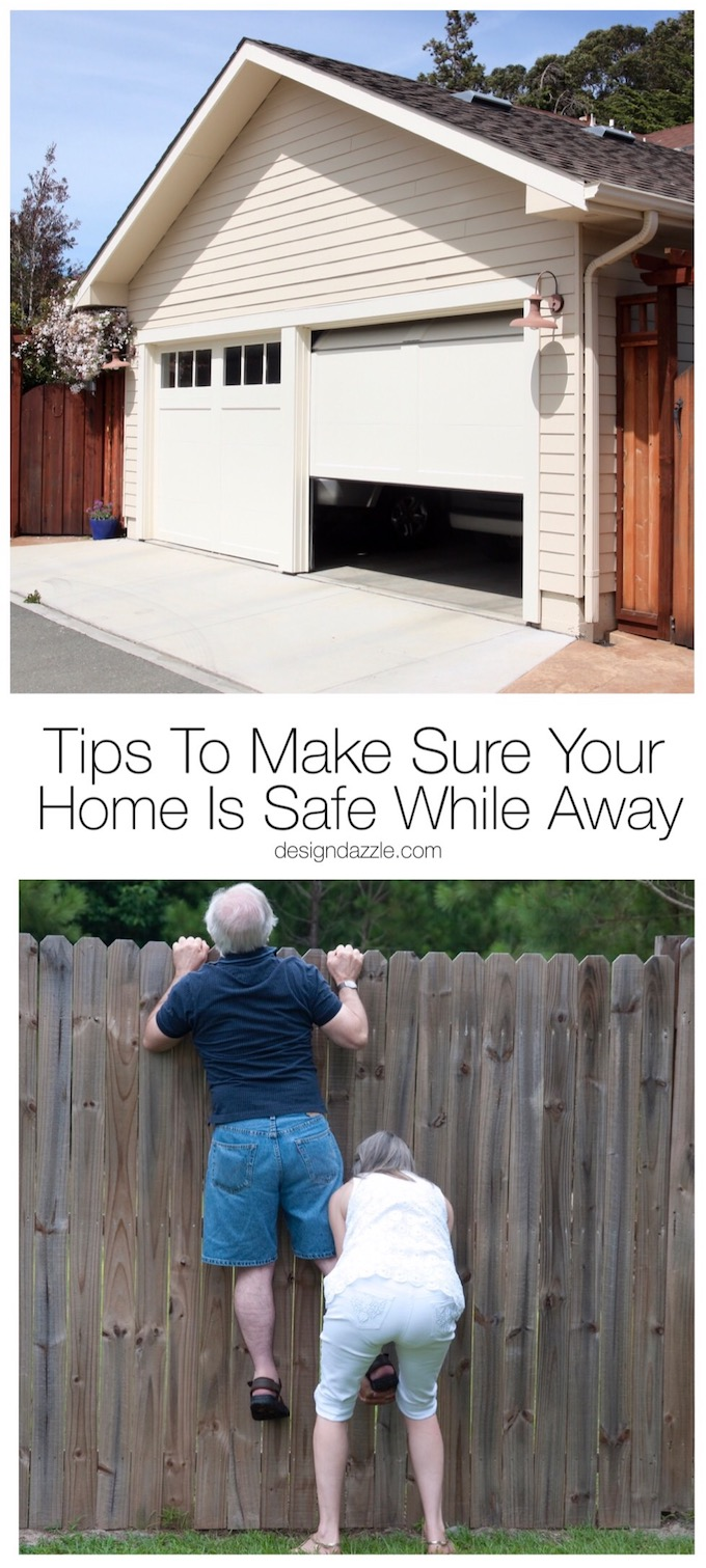 Making sure that your home will be safe and secure before you leave is so important! Here are the best tips to make sure your home is safe while you're away. | Design Dazzle