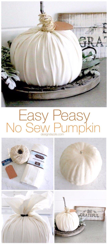 Easy Peasy No Sew Pumpkin