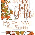 It's Fall Y'All Free Printable