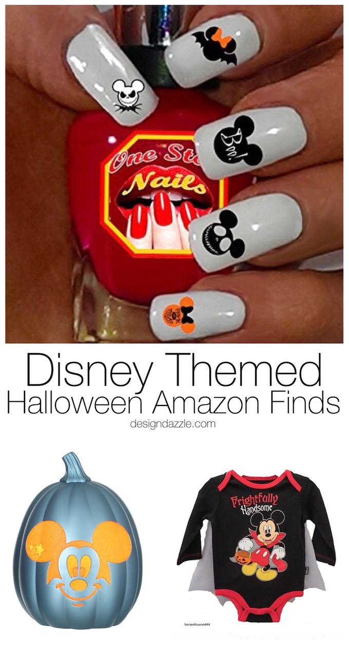 This post has 30+ amazing Disney Themed Halloween Amazon finds to brighten up your home decor, apparel, or even your nails!| disney halloween | disney themed halloween | halloween disney ideas || Design Dazzle