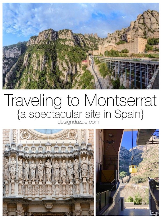 Montserrat is a gorgeous place to visit just outside of Barcelona. Spectacular views and fascinating history await your visit! | Design Dazzle