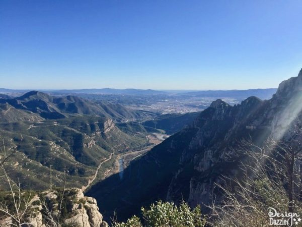 View from the top of Montserrat Spain. The horizon is a glimpse of the Mediterranean!