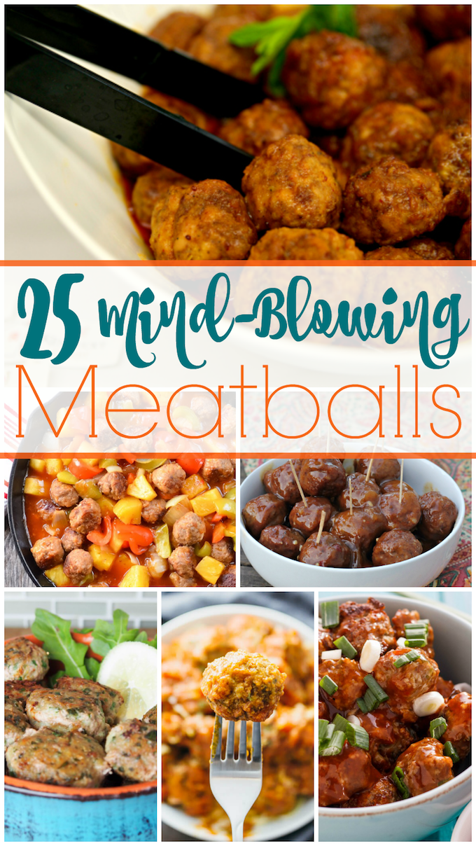 All 25 of these mind-blowing meatball recipes are sure to dazzle your tastebuds and make your dinner planning tonight a little bit easier! | homemade meatball recipes | easy meatball recipes | how to make homemade meatballs | meatball recipe ideas || Design Dazzle #meatballrecipe #homemademeatballs