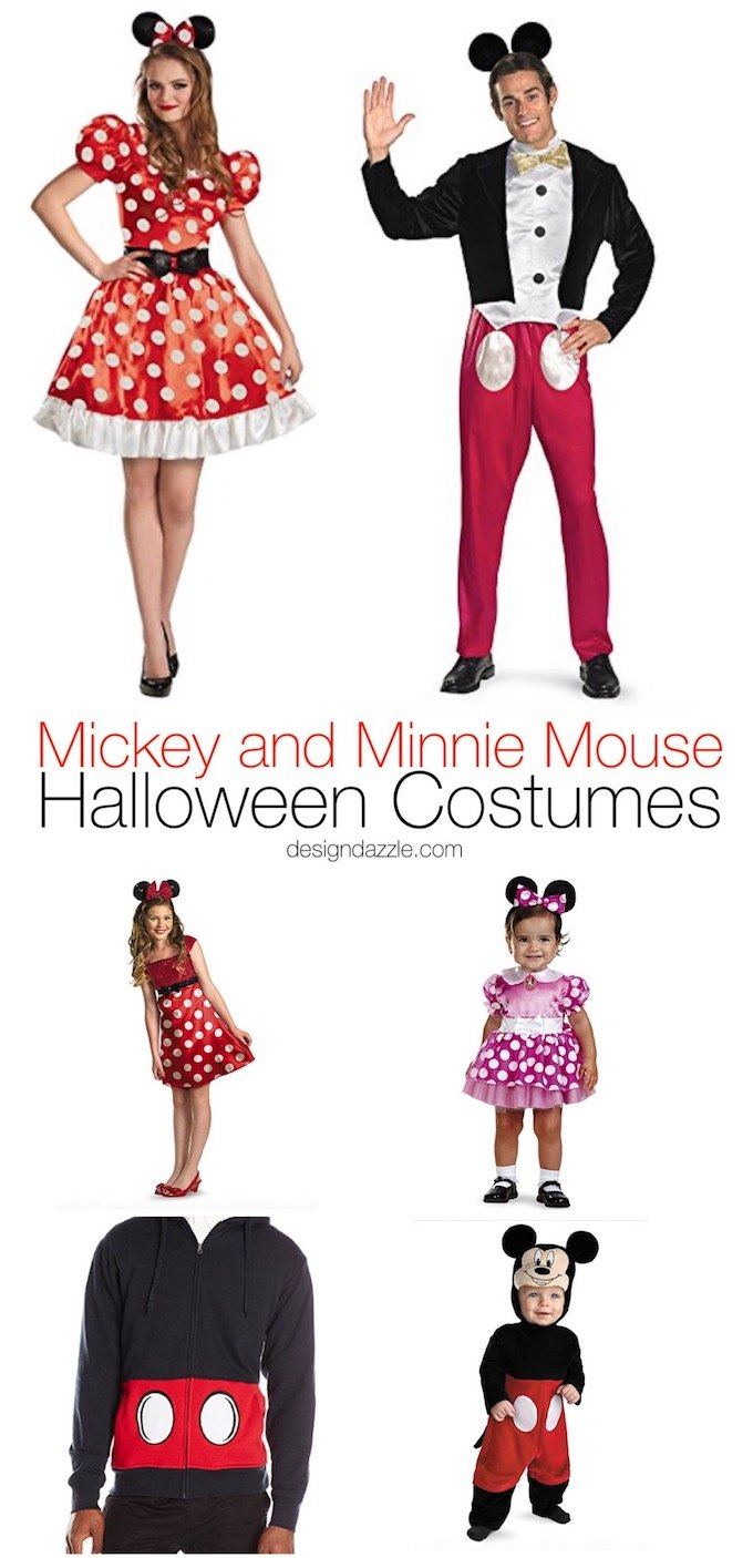 marvelous mickey and minnie mouse halloween costumes - design dazzle