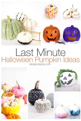 Last-Minute Halloween Pumpkin Ideas