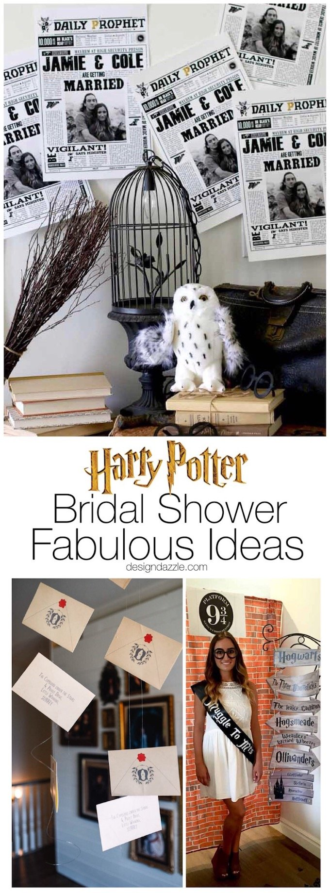 "Is your bride to be a Harry Potter fanatic? This Harry Potter themed bridal shower will make her ""Muggle to Mrs."" dreams come true! 