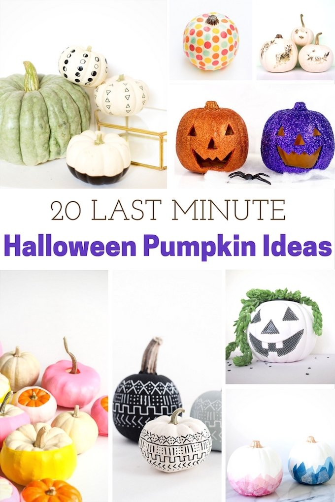 Fall can be a very busy time of then year! That's why I found 20 of my favorite last-minute pumpkin ideas to do with your kiddos.   Design Dazzle