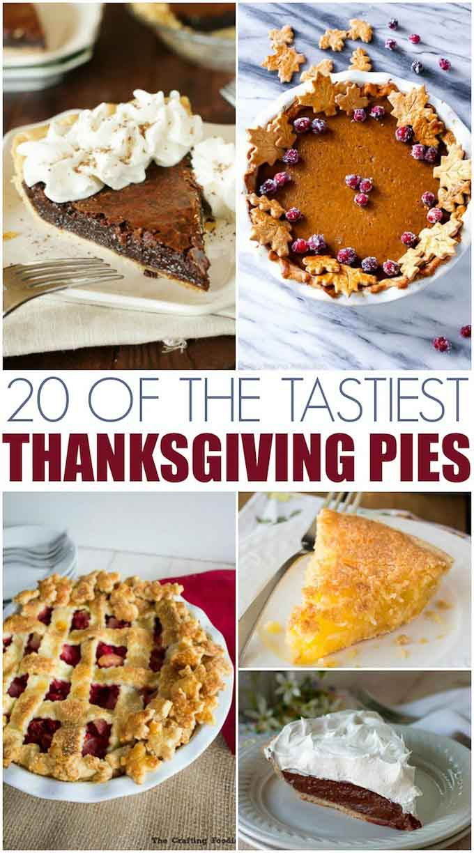 20 of the tastiest Thanksgiving pies out there! Delicious pie ideas for both the filling and the crust! #thanksgiving #pie #piecrust || Design Dazzle