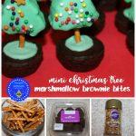 Mini Christmas Tree Marshmallow Brownie Bites