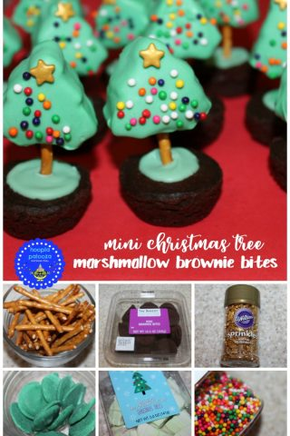 Mini Christmas Tree Marshmallow Brownie Bites