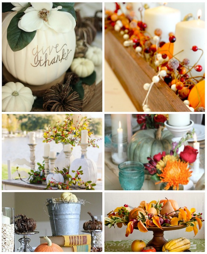 Thanksgiving Home Decor Ideas: 12 Beautiful DIY Thanksgiving Centerpieces