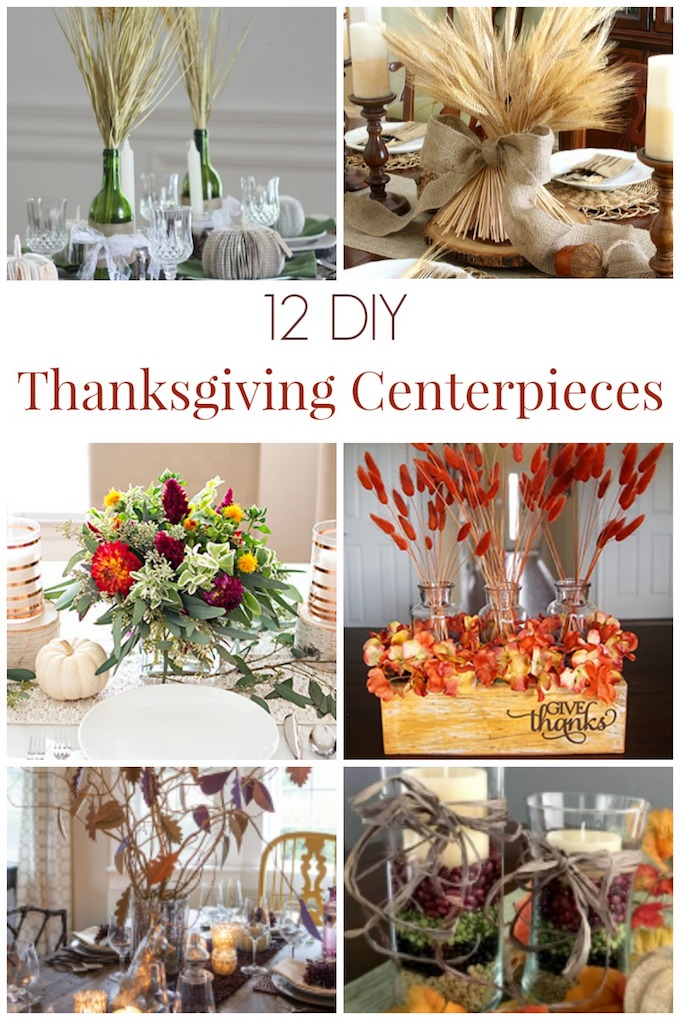 12 Beautiful DIY Thanksgiving Centerpieces! Fantastic ideas for your table that will make your home so cozy! #thanksgiving #thanksgivingdecorations || Design Dazzle