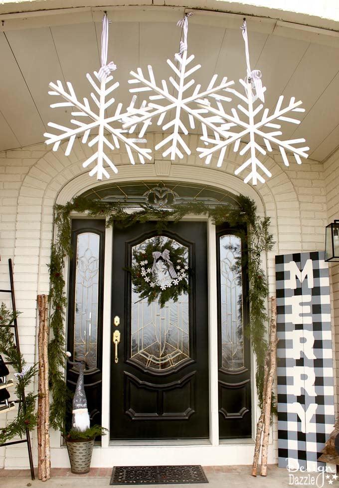 Black And White Christmas Porch Design Dazzle