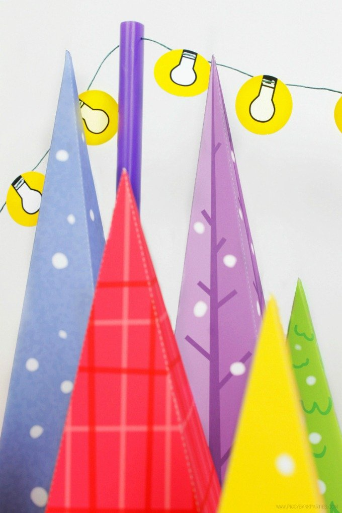 Colorful Christmas Tree Lot Free Download by Piggy Bank Parties   diy christmas decor   diy holiday decor   decorating for the holidays   decorating for christmas   paper christmas tree    Design Dazzle #paperchristmastree #diychristmasdecor #diyholidaydecor