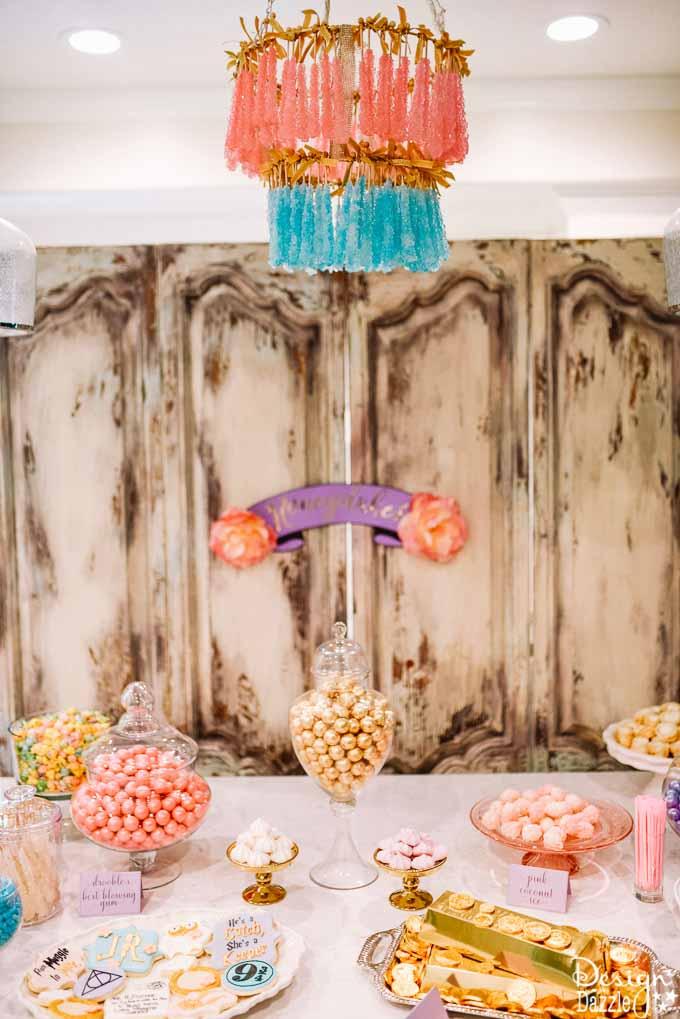 Bridal Shower Honeydukes Sweet Shop Design Dazzle