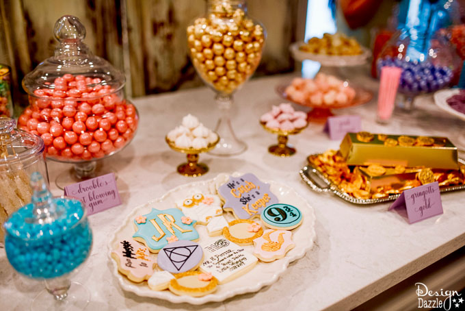 Harry Potter themed bridal shower complete with Honeydukes Sweet Shop, this party would also work perfect for a Birthday Party or Baby shower! | Design Dazzle