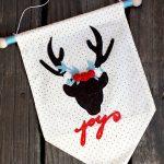 Christmas Deer Wall Hanging