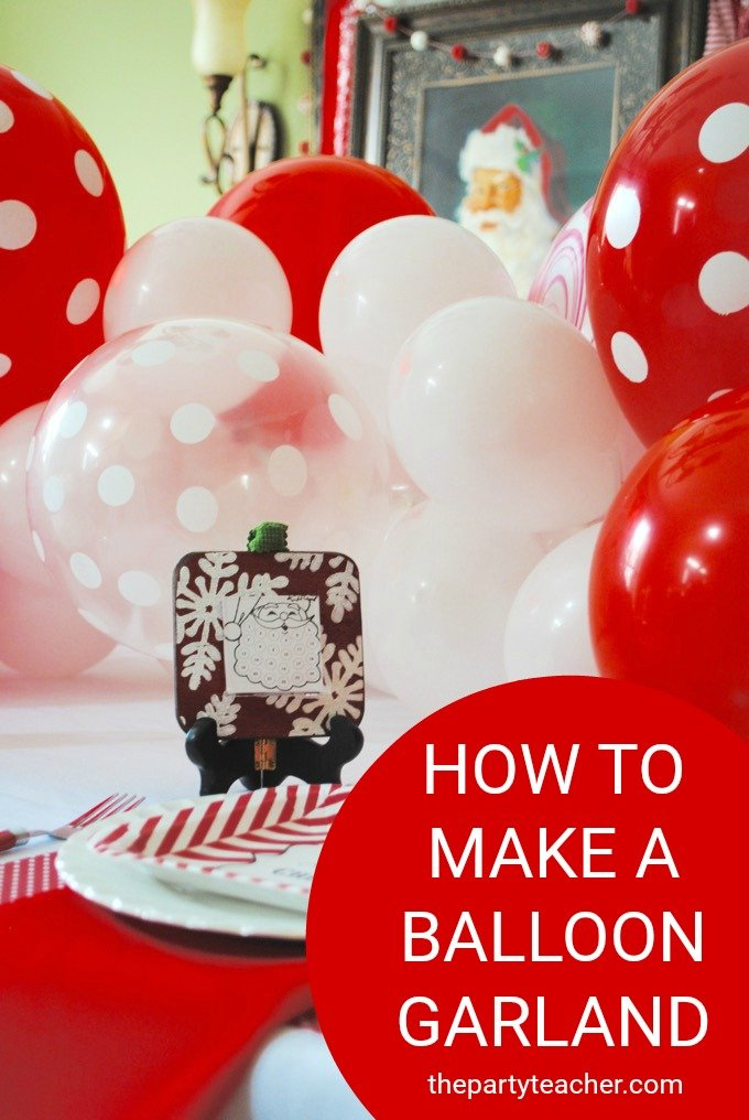How to make a balloon garland by The Party Teacher | diy balloon garland | balloon garland diy | homemade balloon garland | diy party decor | balloon garland tutorial || Design Dazzle #balloongarland #diypartydecor #partydecorideas