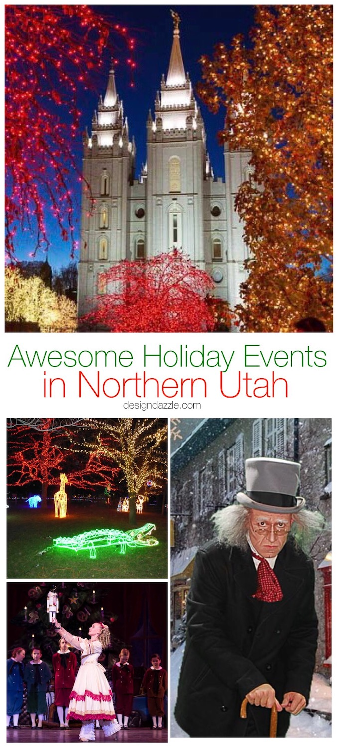 Here are 20 of the most magically-awesome events to do in Northern Utah during the Holiday season! Your family will love all of these events! | holiday fun in Utah | Utah family fun | fun holiday ideas for families in Utah | Christmas events in Utah || Design Dazzle #holidayevents #utahtravel #christmasevents #northernutah