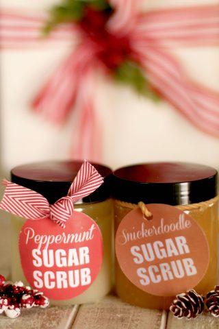 Sugar Scrub Gift Giving Recipes & Free Printables