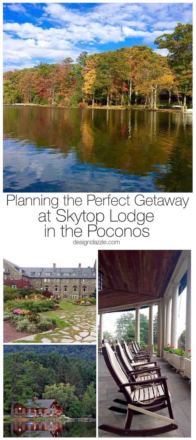Looking for the perfect getaway? Whether you are going for your honeymoon or with your family Skytop Lodge in the Poconos is just what you're looking for! | Poconos travel guide | where to stay in the Poconos | Poconos travel tips | Skytop Lodge in the Poconos | fall travel destinations || Design Dazzle #skytoplodge #poconos #traveltips #falltravel
