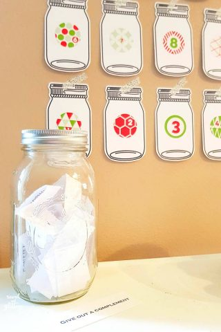 Mason Jar Acts of Kindness Advent Calendar